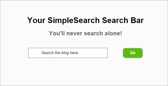 SimpleSearch Search Bar
